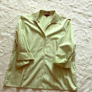 Lands End Cotton Button Shirt/Blouse.